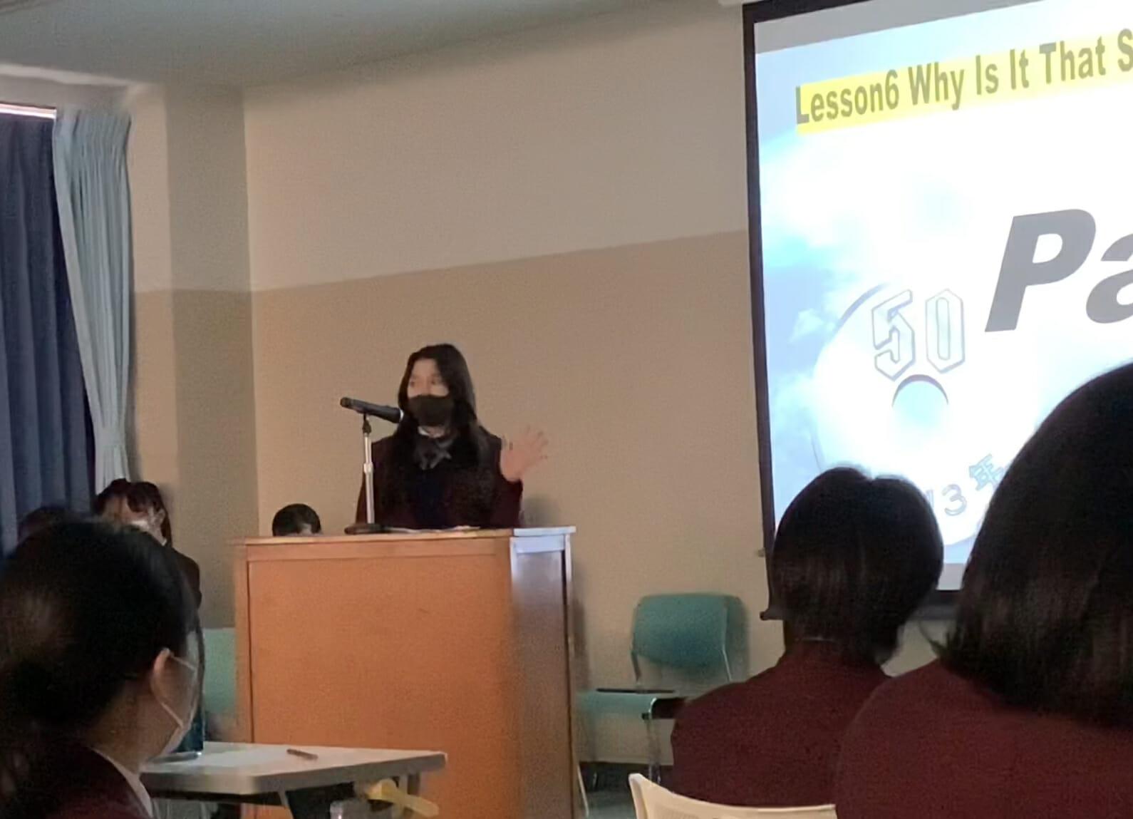 高2キャリアデザインコース  英語レシテーション大会