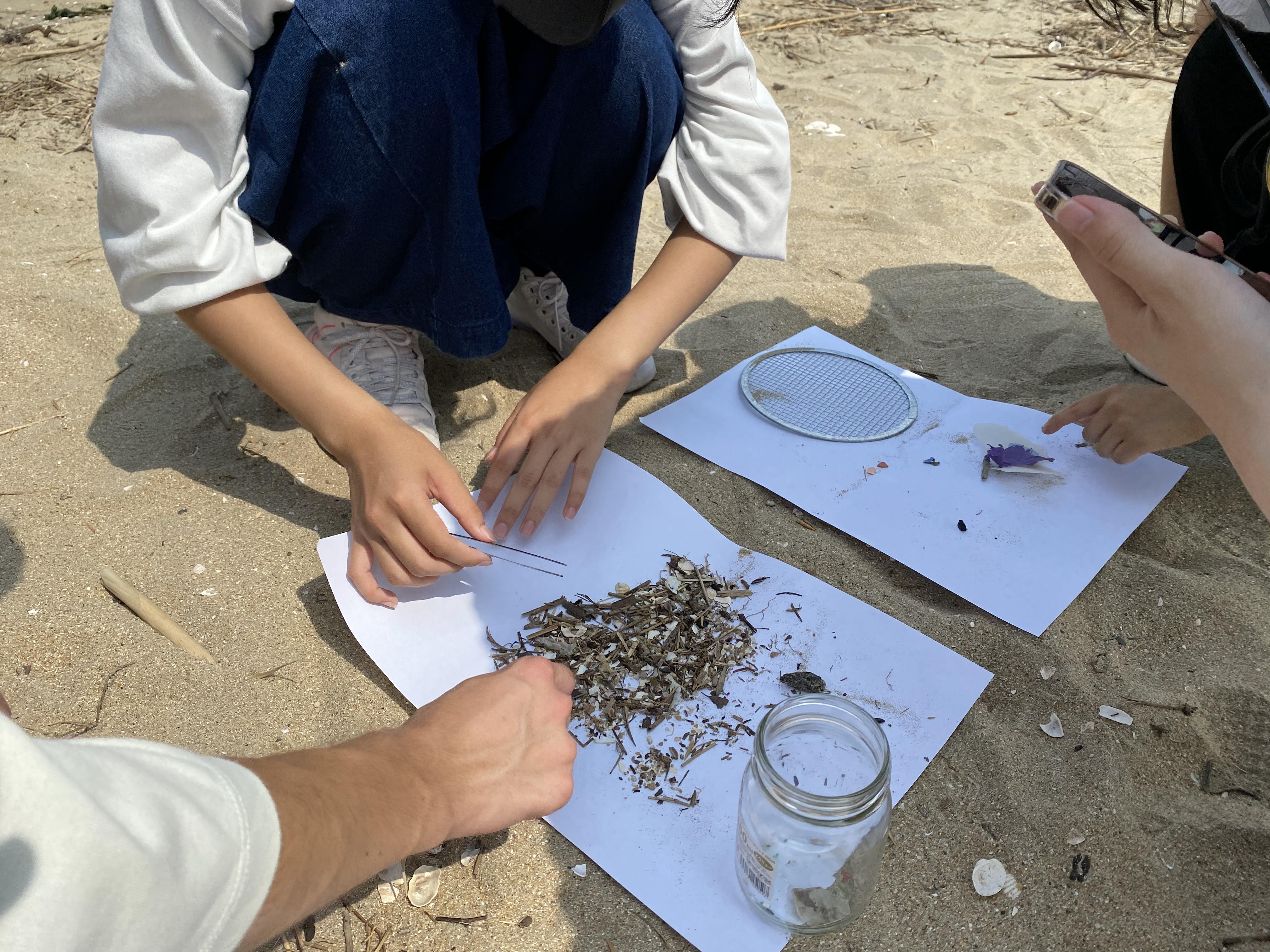高1特進 探究的な学び 1-3.マイクロプラスチックの採集調査